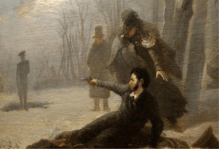 Pushkin-na-dueli Что старая гадалка предсказала А.С. Пушкину?